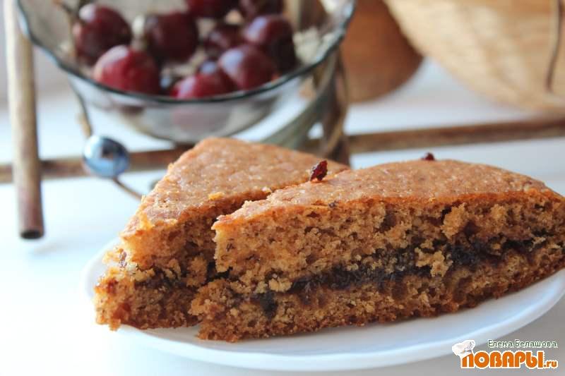 Рецепт Абрикосовый пирог с черносливом