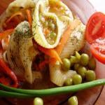 Фаршированные овощами ригатоны
