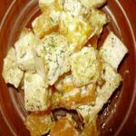Жареный тофу с тыквой