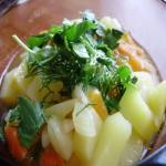 Жидкая картошка с морковью и луком