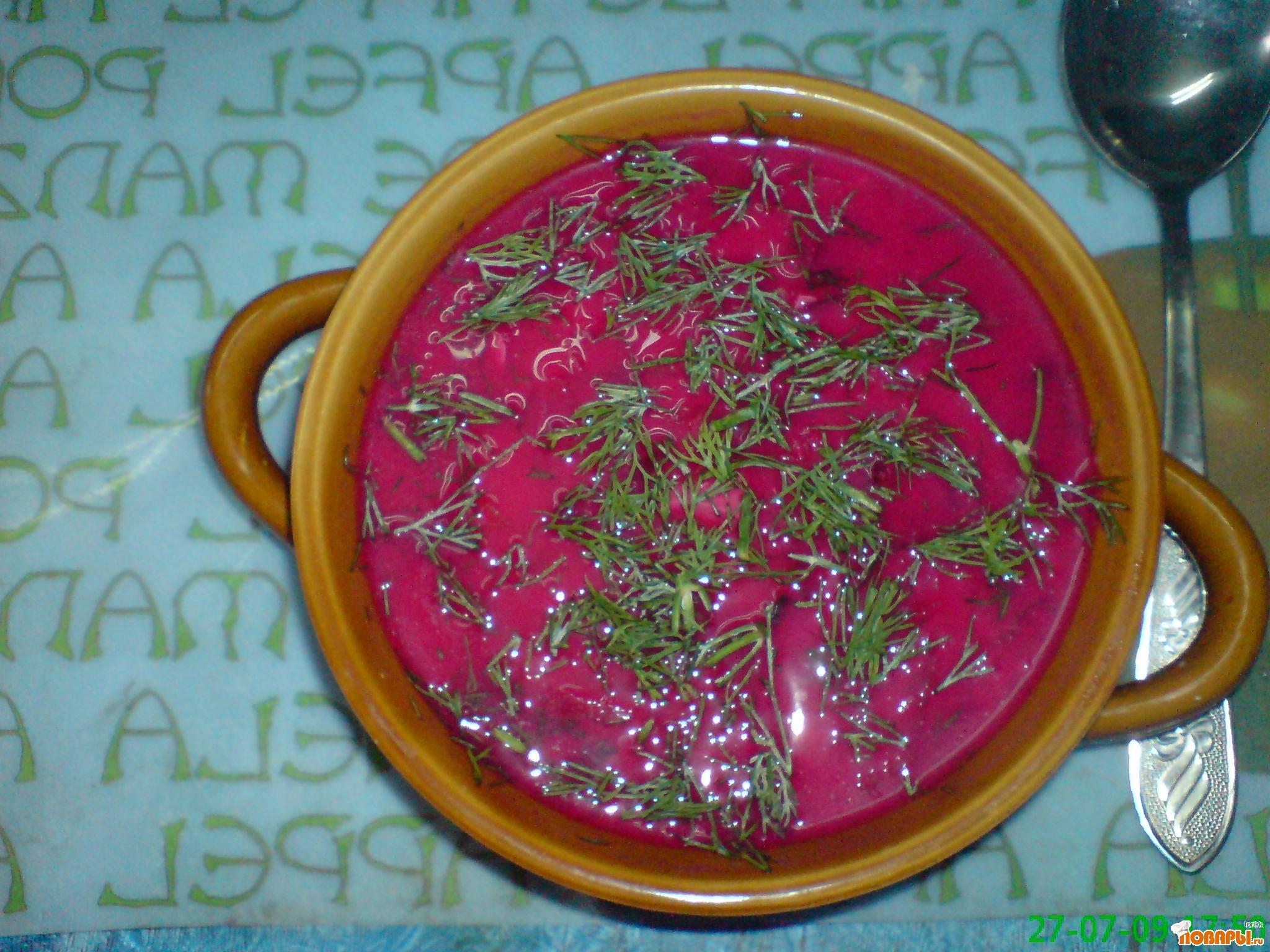 Рецепт Летние супы.Свекольник.