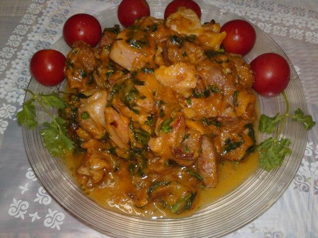 Рецепт Индюшиное мясо с манго.