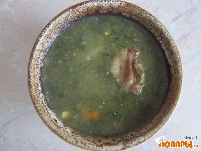 Рецепт Зеленый борщ с крапивой и щавелем