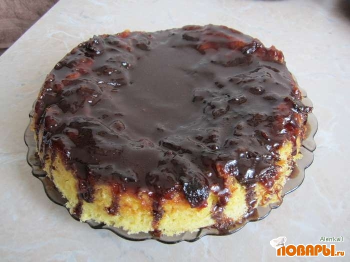 Рецепт Сливовый торт, приготовленный в мультиварке