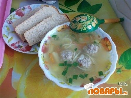 Рецепт Суп сливочный с фрикадельками, фаршированными сыром