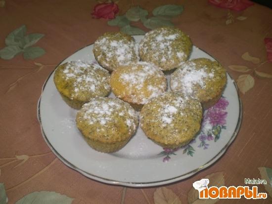 Рецепт Кексы с маком и изюмом