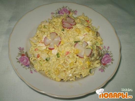 Рецепт Салат с макаронами быстрого приготовления