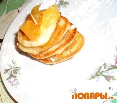 Рецепт Оладушки с яблочным повидлом