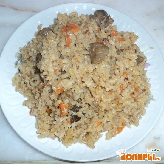Рецепт Говядина тушеная с рисом