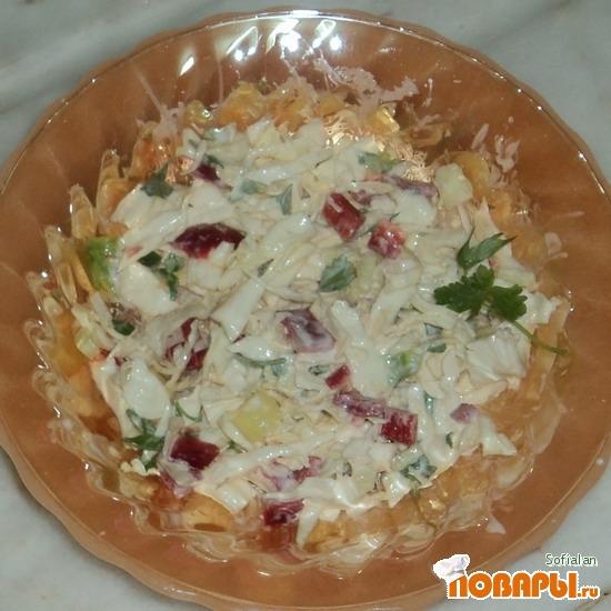 Рецепт Салат из капусты с болгарским перцем