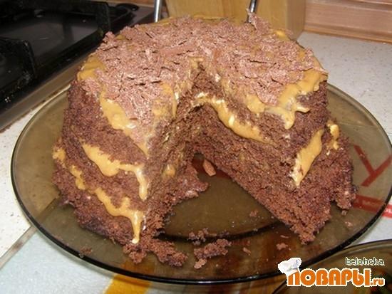 Рецепт Шоколадный тортик в микроволновке