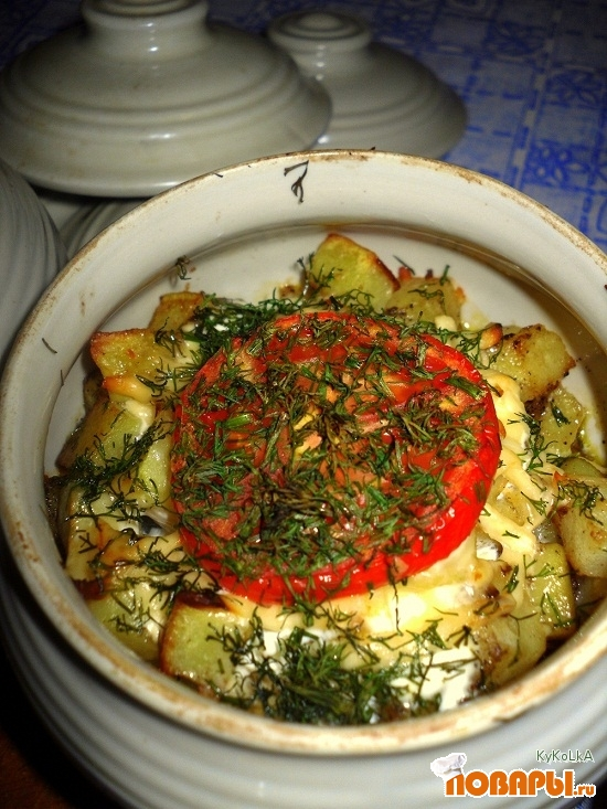Рецепт Картофель по домашнему в горшочках