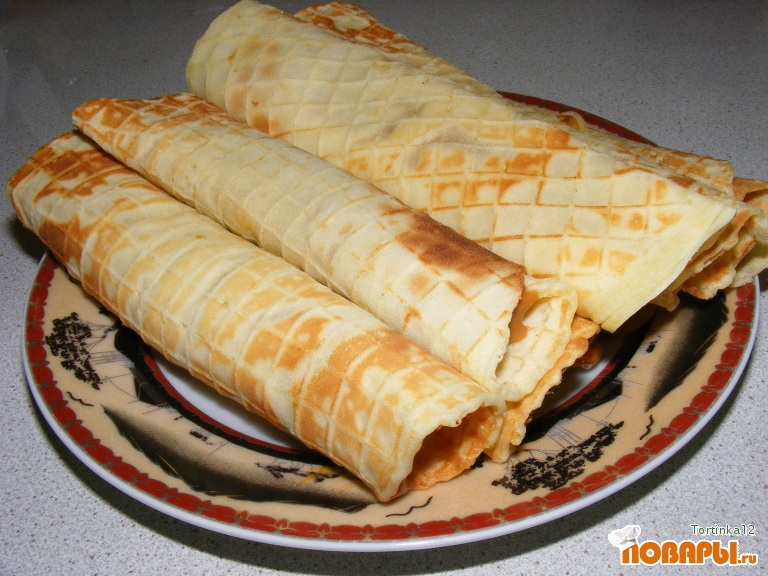 Рецепт Ванильные вафельки домашние