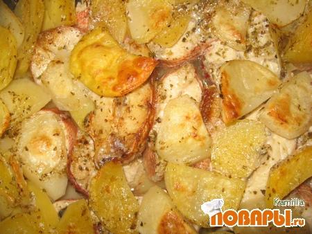 Рецепт Рыба запечёная в духовке по-гречески