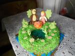 Торт Панчо с персиками