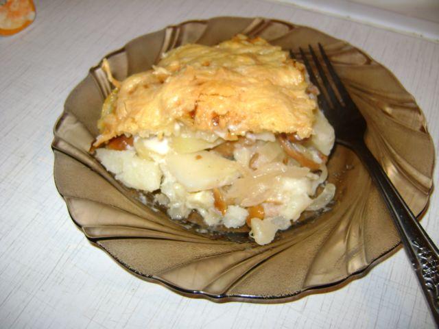 Рецепт Картофельная запеканка с опятами