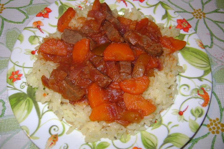 Рецепт Говядина в овощном соусе