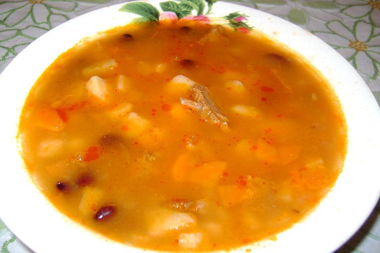 Рецепт Густой фасолевый суп с мясом