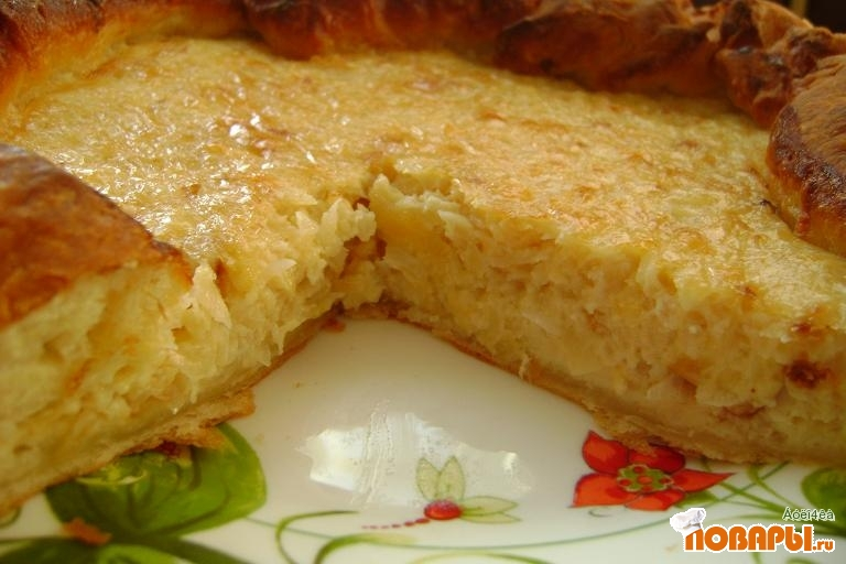 Рецепт Сырно-луковый пирог