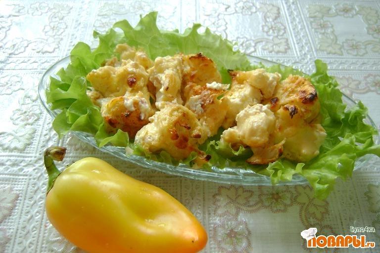 Рецепт Цветная капуста в сырном соусе