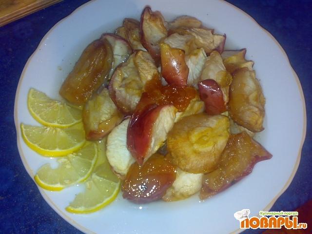 Рецепт Яблоки в медовом сиропе