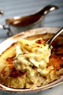 Лук-порей, с картофелем, под сливочным соусом (английское блюдо)