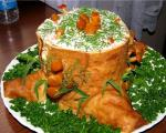 Салат-рулет «Пенёк»