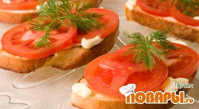 Рецепт Бутерброд к неожиданным гостям и побаловать мужа.