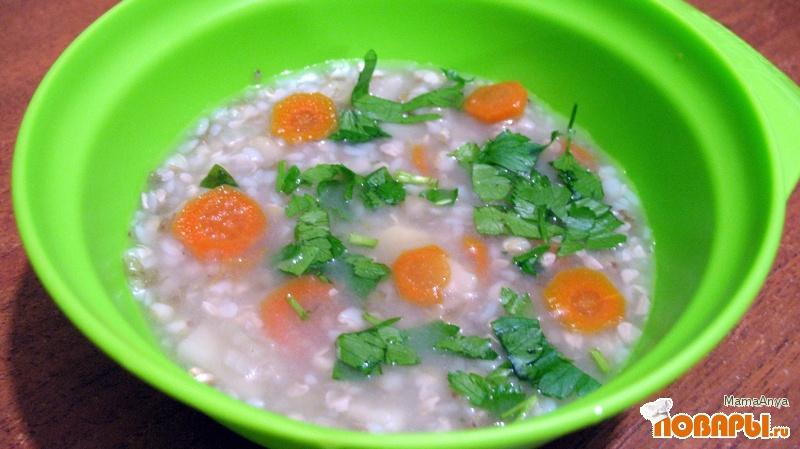 Рецепт Диетический суп с зеленой гречкой