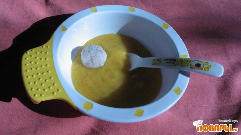 Рецепт Пюре из кабачка с фрикадельками из телятины