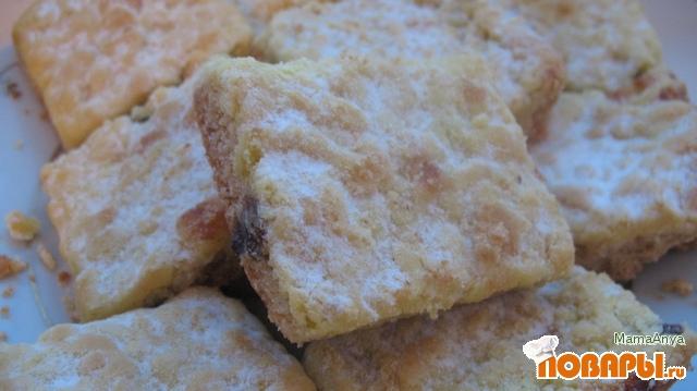 Рецепт Тертый пирог с нежной творожной начинкой