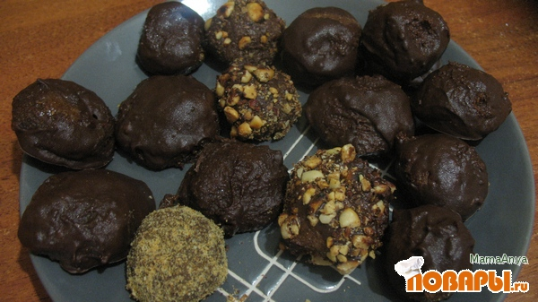 Рецепт Домашние шоколадные конфеты