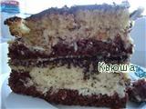 Рецепт Пражский полосатый торт