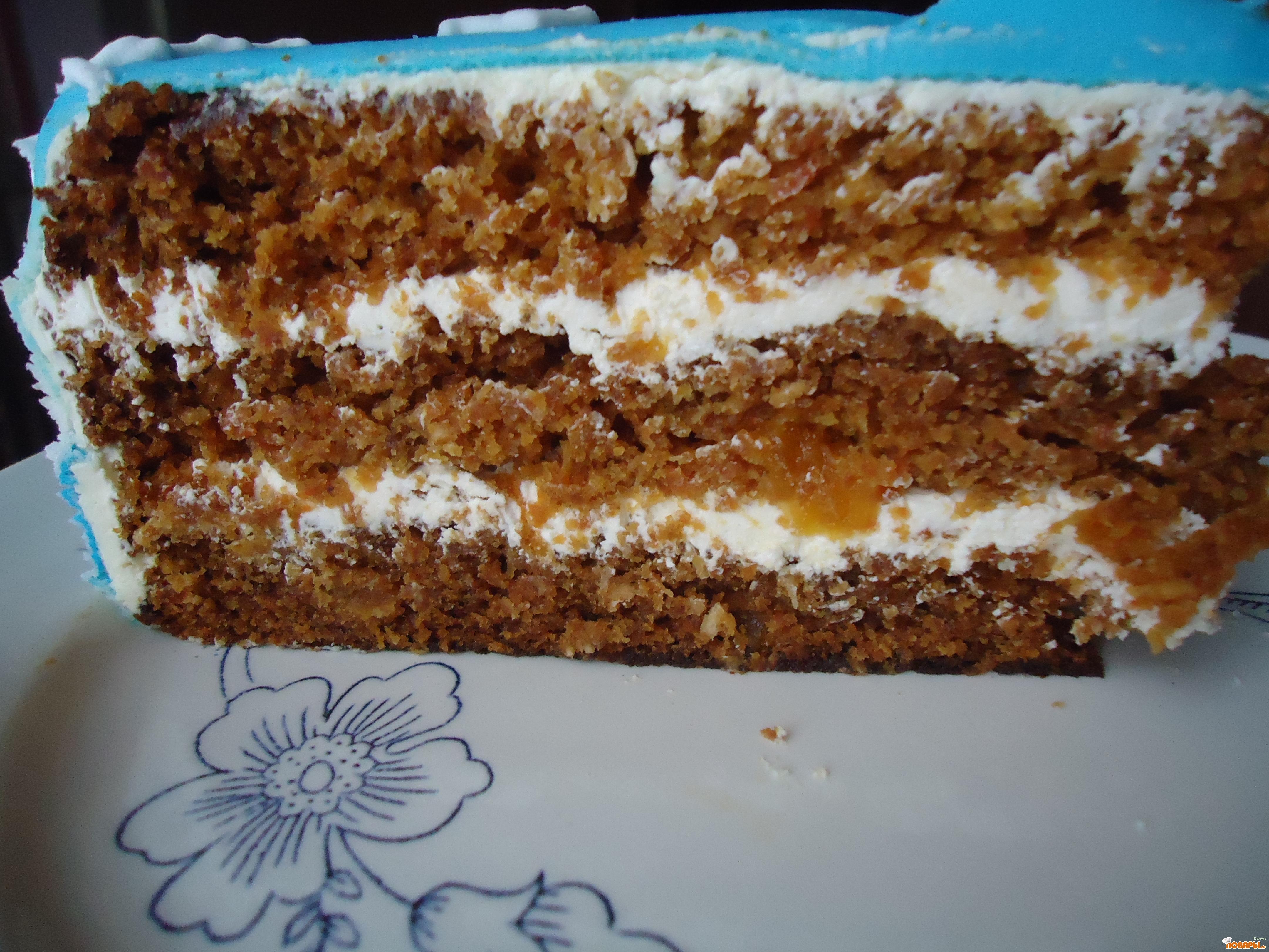 Рецепт Морковный пряный торт(никто никогда не догадается, что там морковь)