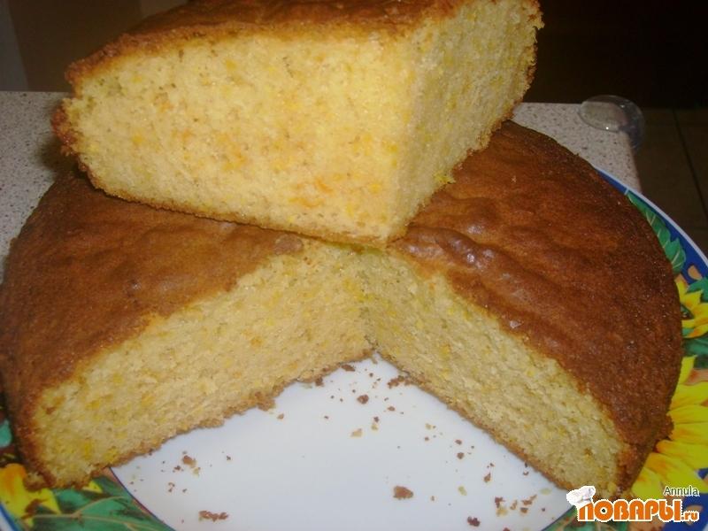 Рецепт Бисквит с белым шоколадом и апельсиновой цедрой