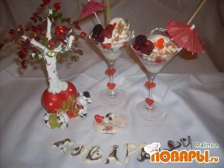 "Рецепт Десерт ""Teamo"" в переводе с исп.-Я Тебя Люблю."