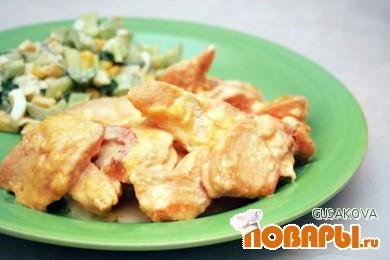 Рецепт Курица в сливочном соусе с паприкой