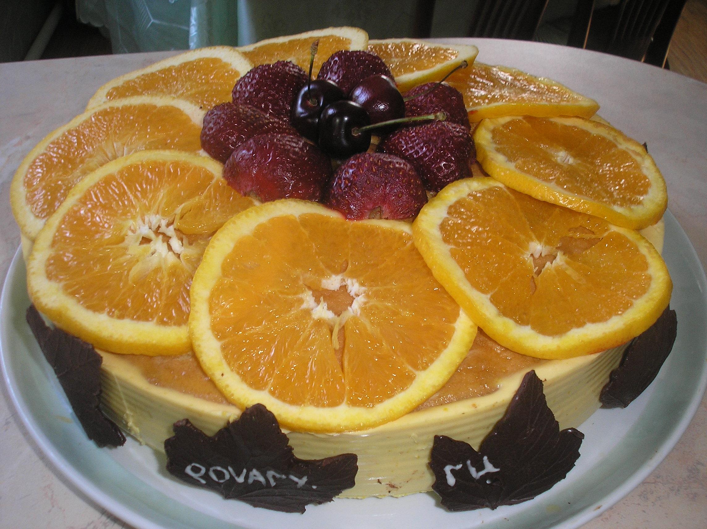 Рецепт Апельсиново клубничный рай