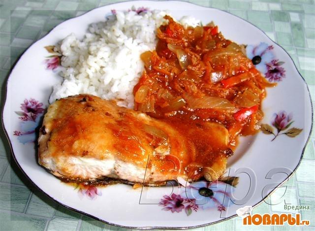 Рецепт Горбуша в томатном соусе.