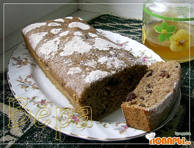 Рецепт Пряный медовый кекс.