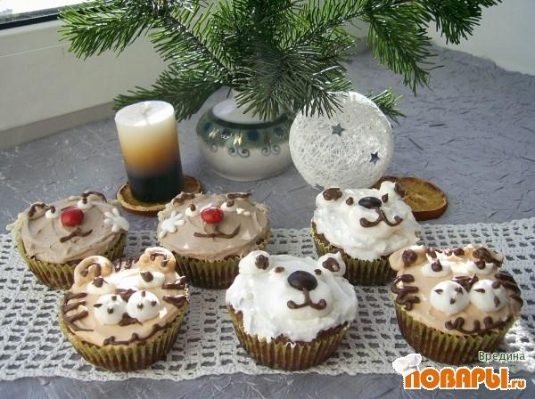Рецепт Кексы в новогоднем стиле.