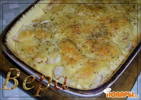 Рецепт Золотистый картофель.