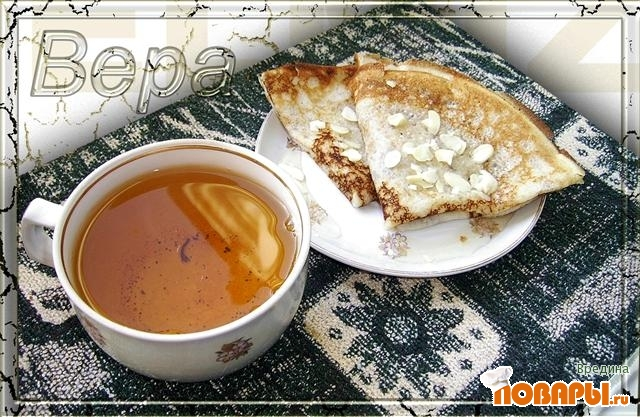 Рецепт Коньячные блинчики с медом.