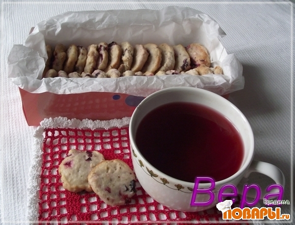 Рецепт Печенье с черной смородиной.