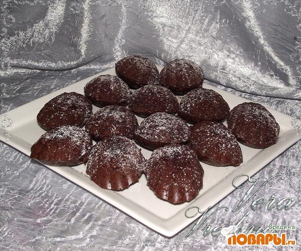 Рецепт Шоколадные мадленки.