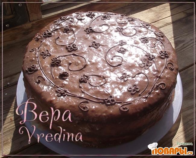 Рецепт Шоколадный торт с заварным кремом.