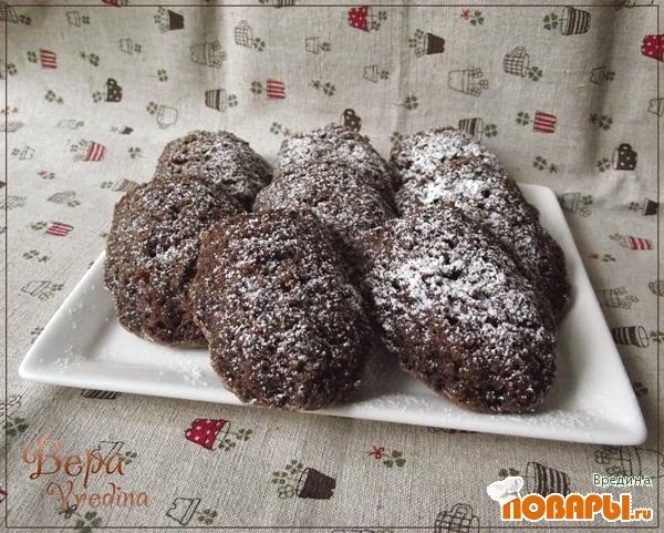 Рецепт Шоколадные мадленки с черносливом.