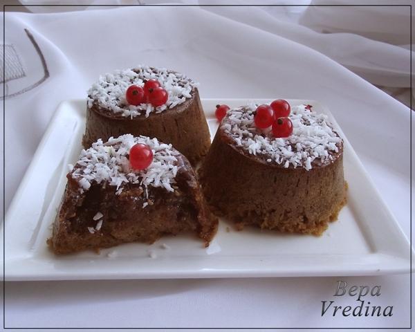 Рецепт Маффины с малиновым вареньем.