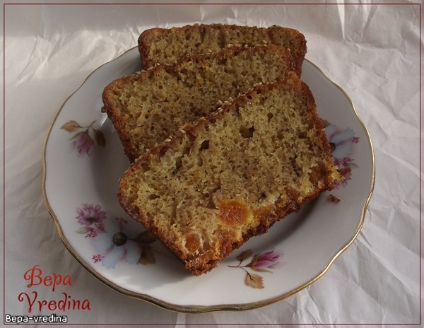 Рецепт Апельсиновый кекс с заливкой.