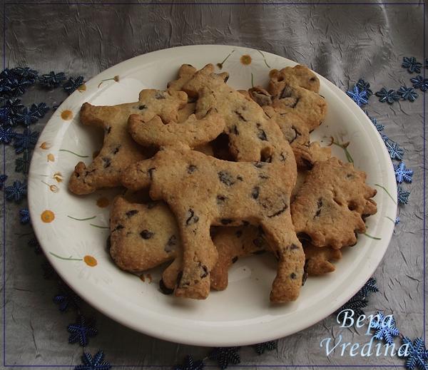 Рецепт Печенье с кусочками шоколада.